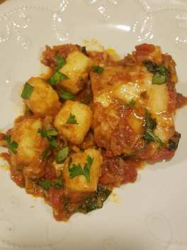 gnocchi and cod