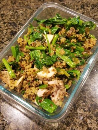 quinoa and greens
